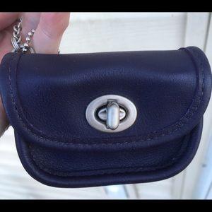 Coach Vintage City Bag Keychain Coin Purse Purple